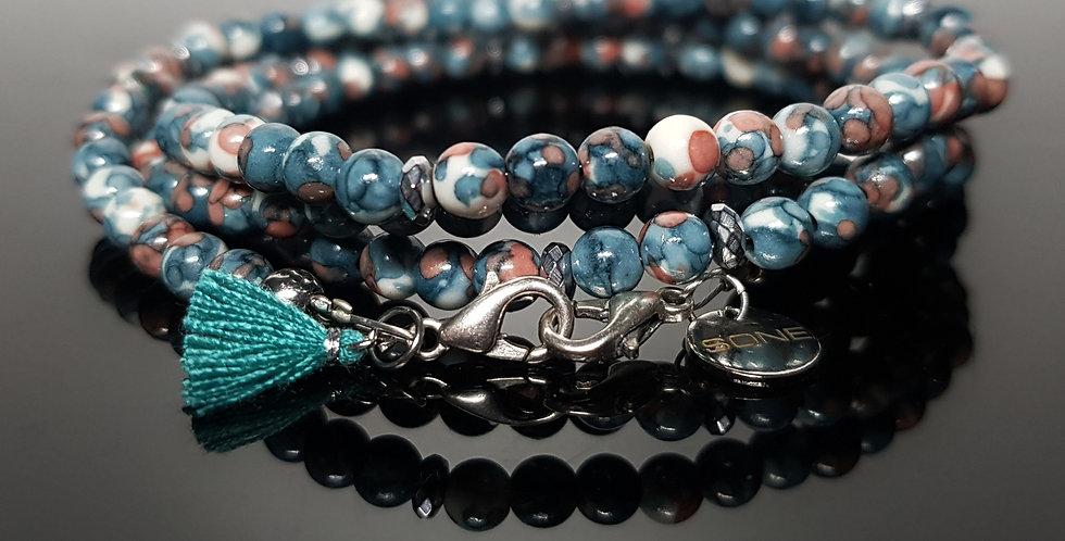 Variantenkette Jade türkis, silber