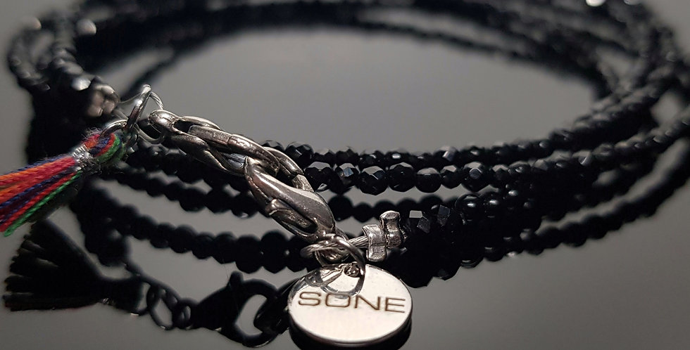 Variantenkette Onyx schwarz, silber