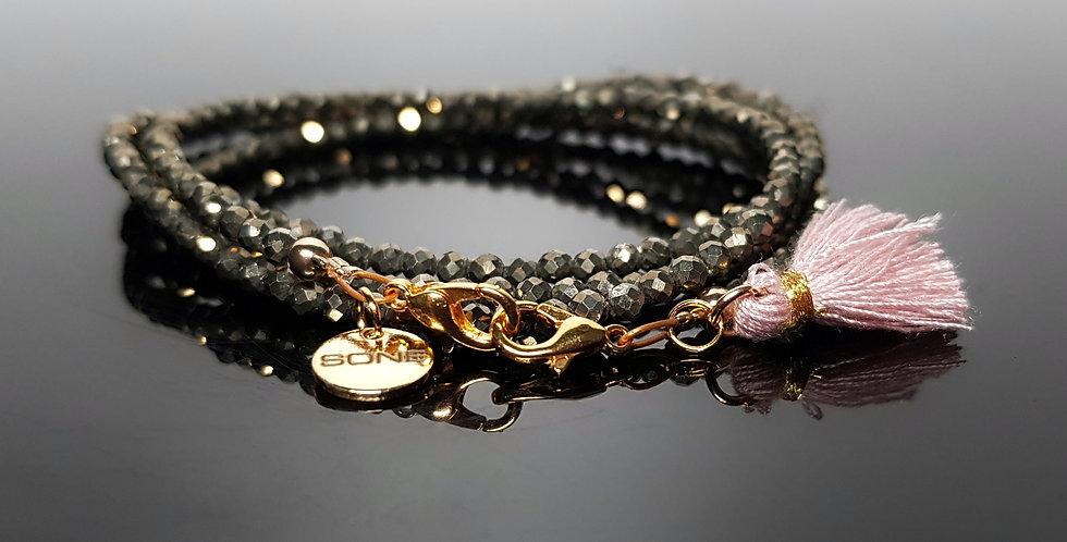 Variantenkette Pyrit, gold