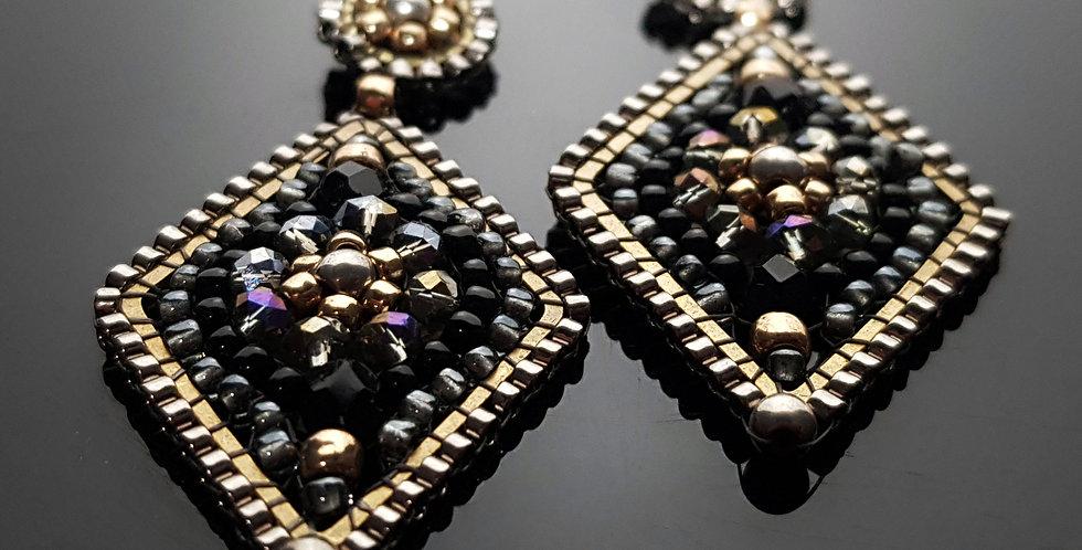 Karo schwarz, gold