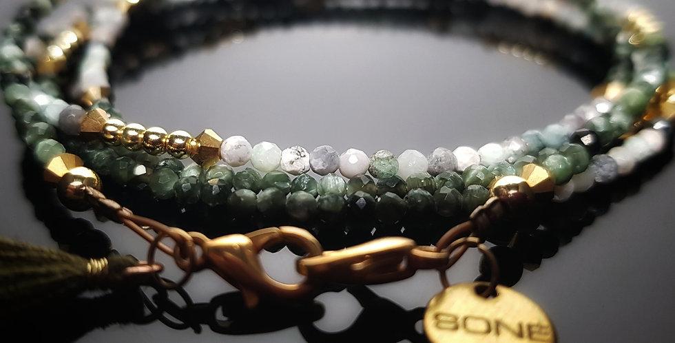 Variantenkette Smaragd grün, gold
