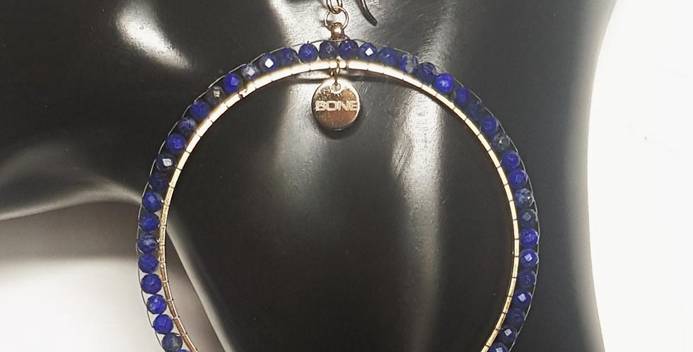 Creolen Lapis Lazuli, blau