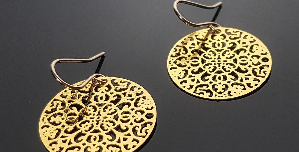 Ornament Ohrringe gold