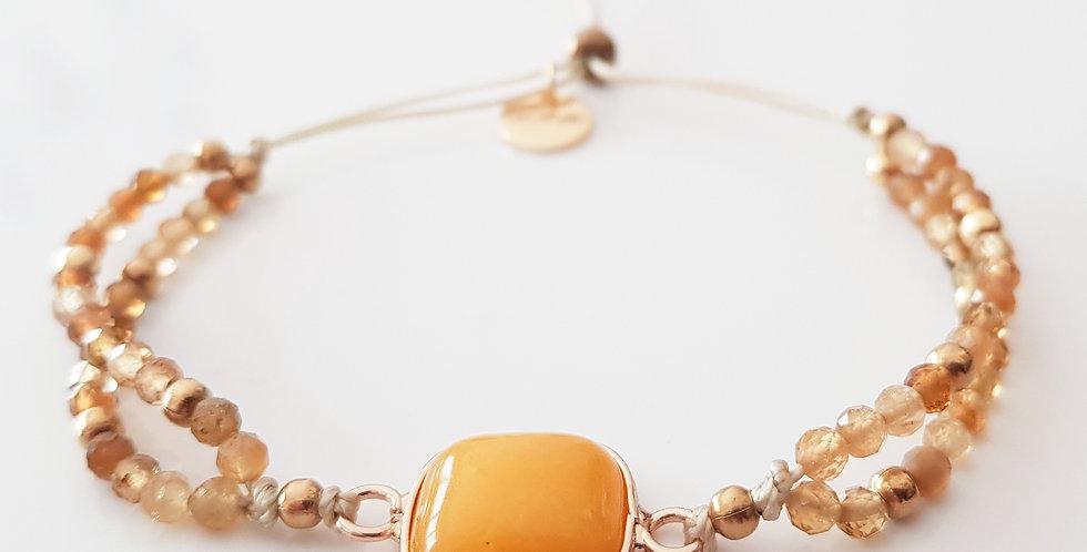 Armband Turmalin gelb, gold