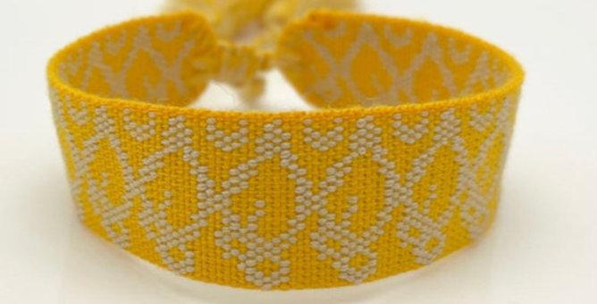 Webarmband gelb