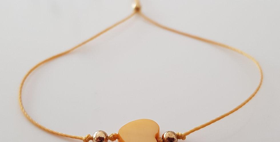 Armband Perlmutt gelb