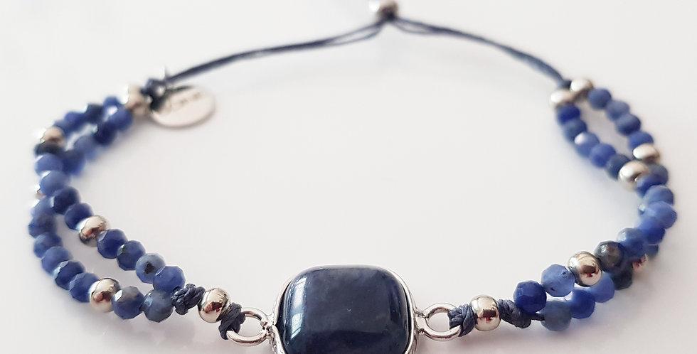 Armband Sodalith blau, silber