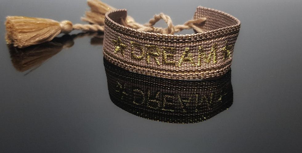 Webarmband Dream, beige