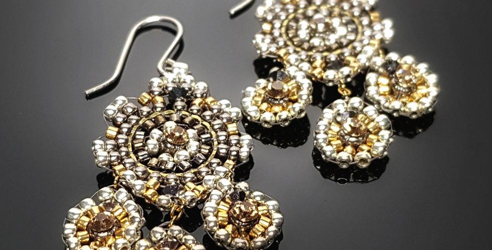 Dreiblatt Mini, silber, chrome, gold