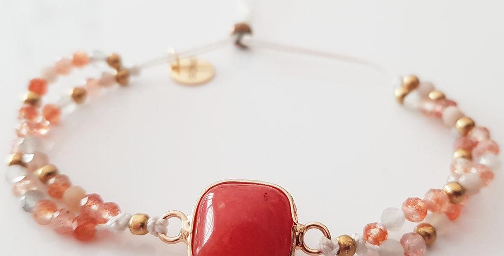 Armband Sonnenstein orange, gold
