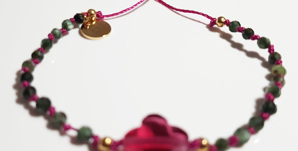 Armband Seraphinit grün, pink, gold