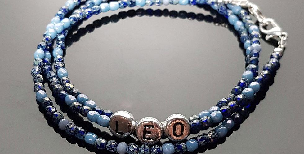 Variantenkette für Kinder blau, silber