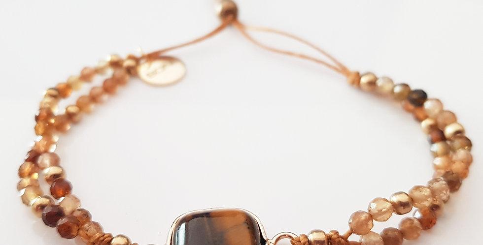 Armband Turmalin bernstein, gold