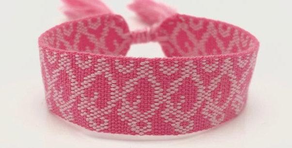 Webarmband pink