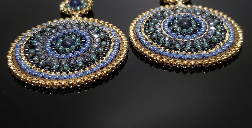 Barbabella Sodalith blau, gold