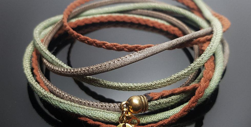 Variantenkette Textil nude, orange, grün, gold