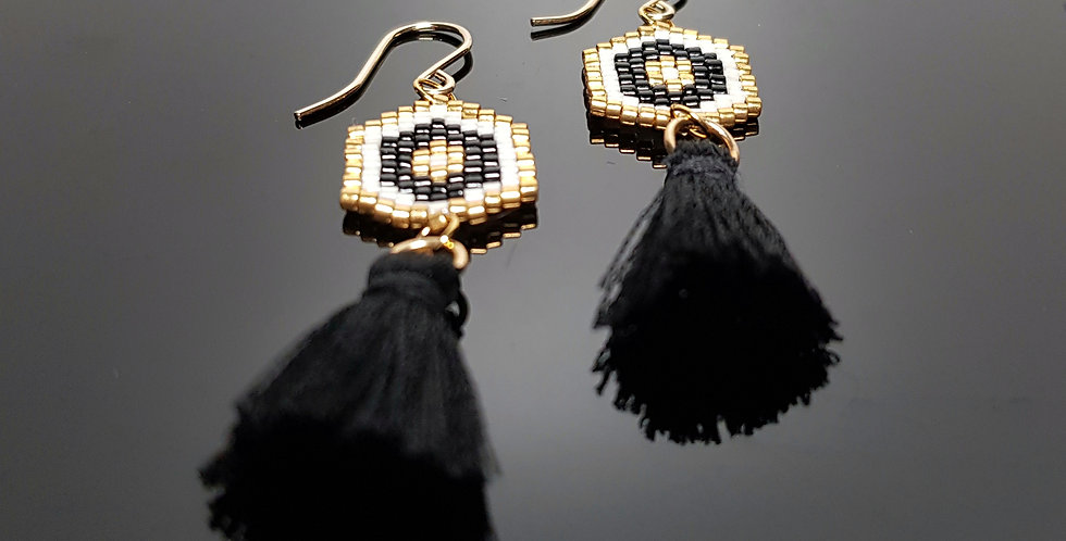 Quastagon schwarz, gold