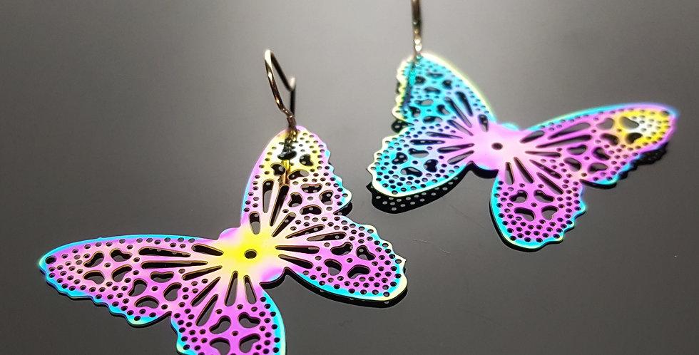 Filigrane Ohrringe regenbogenfarben