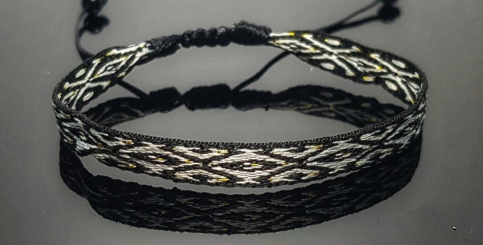Textilarmband, schwarz