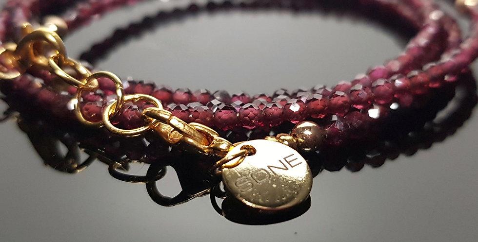 Variantenkette Granat rot, gold