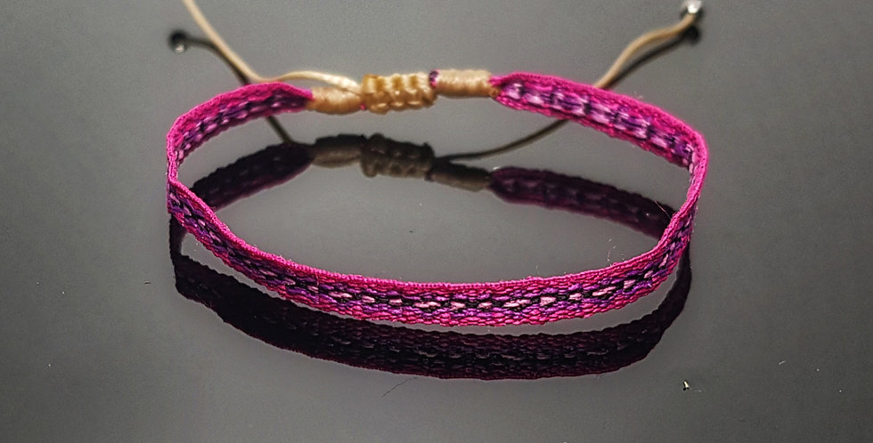 Textilarmband, pink