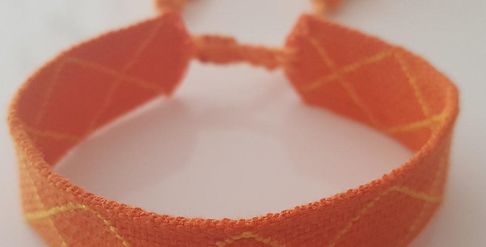 Webarmband orange, gelb