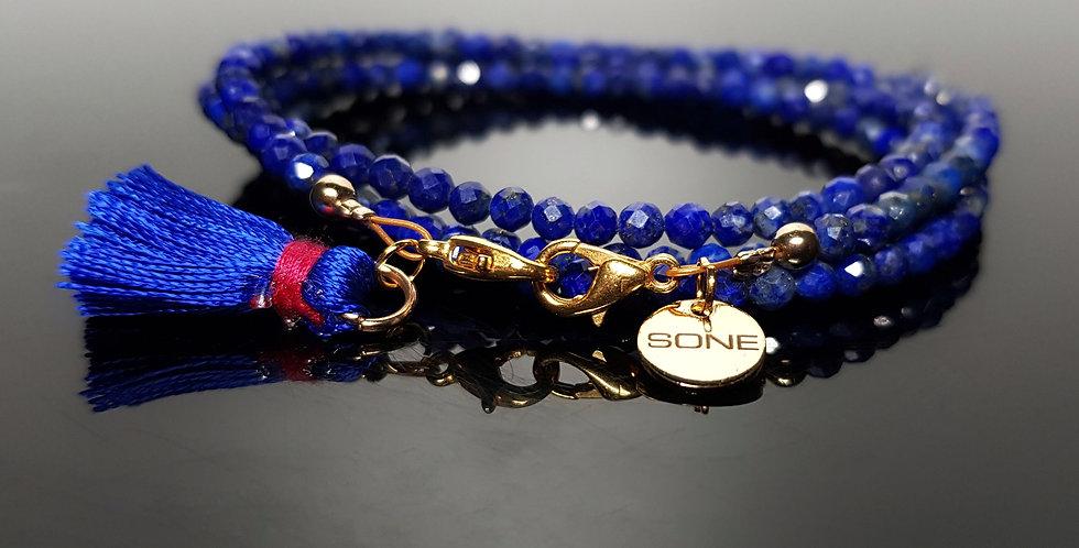 Variantenkette Lapis Lazuli blau, gold