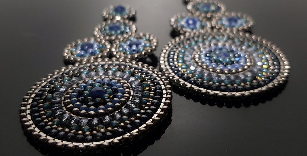 Schneefrau Sodalith blau, chrome