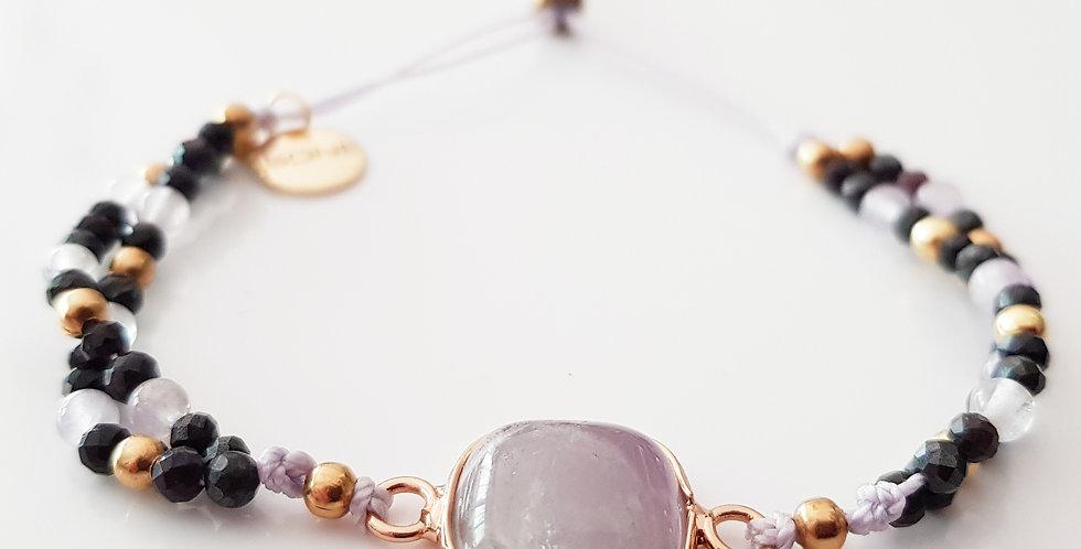 Armband Sugelith lila, gold