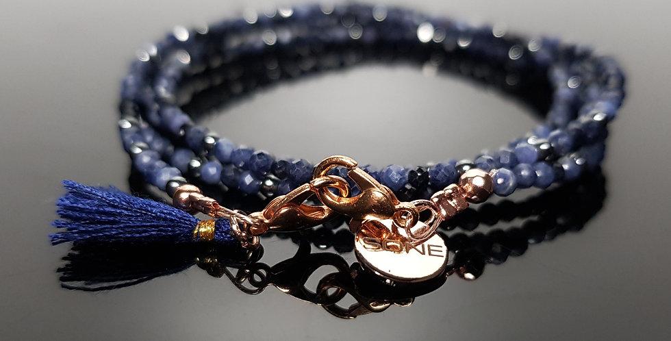 Variantenkette Saphir blau, gold