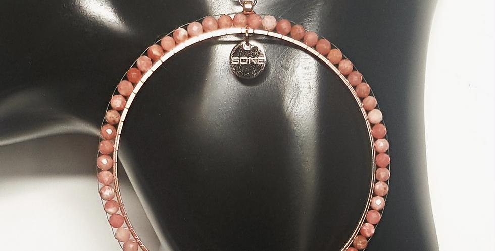 Creolen Rhodonit, rosa