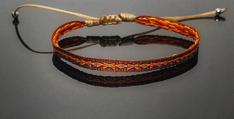 Textilarmband, orange