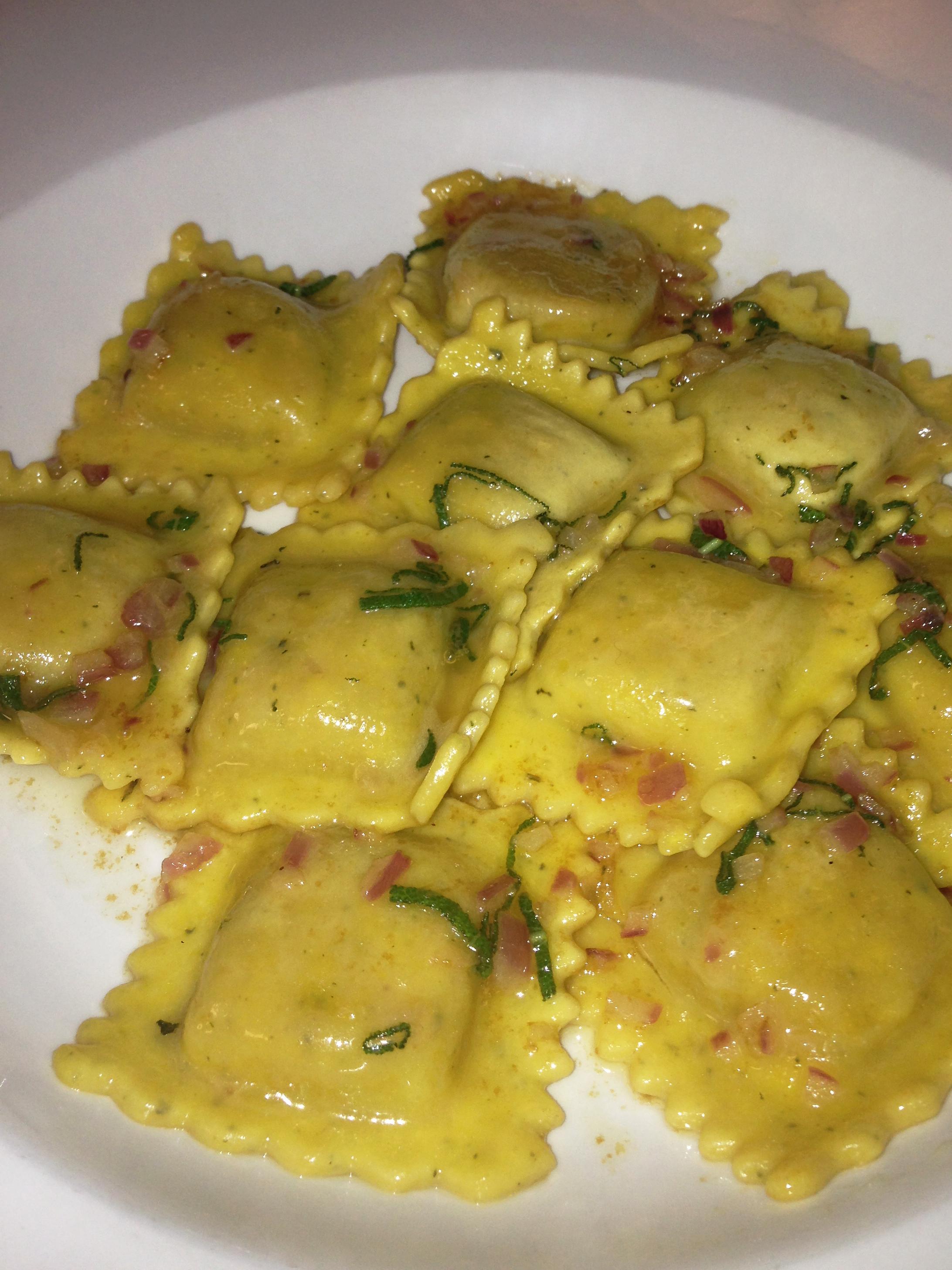 Butternut Ravioli w/ Sage Butter