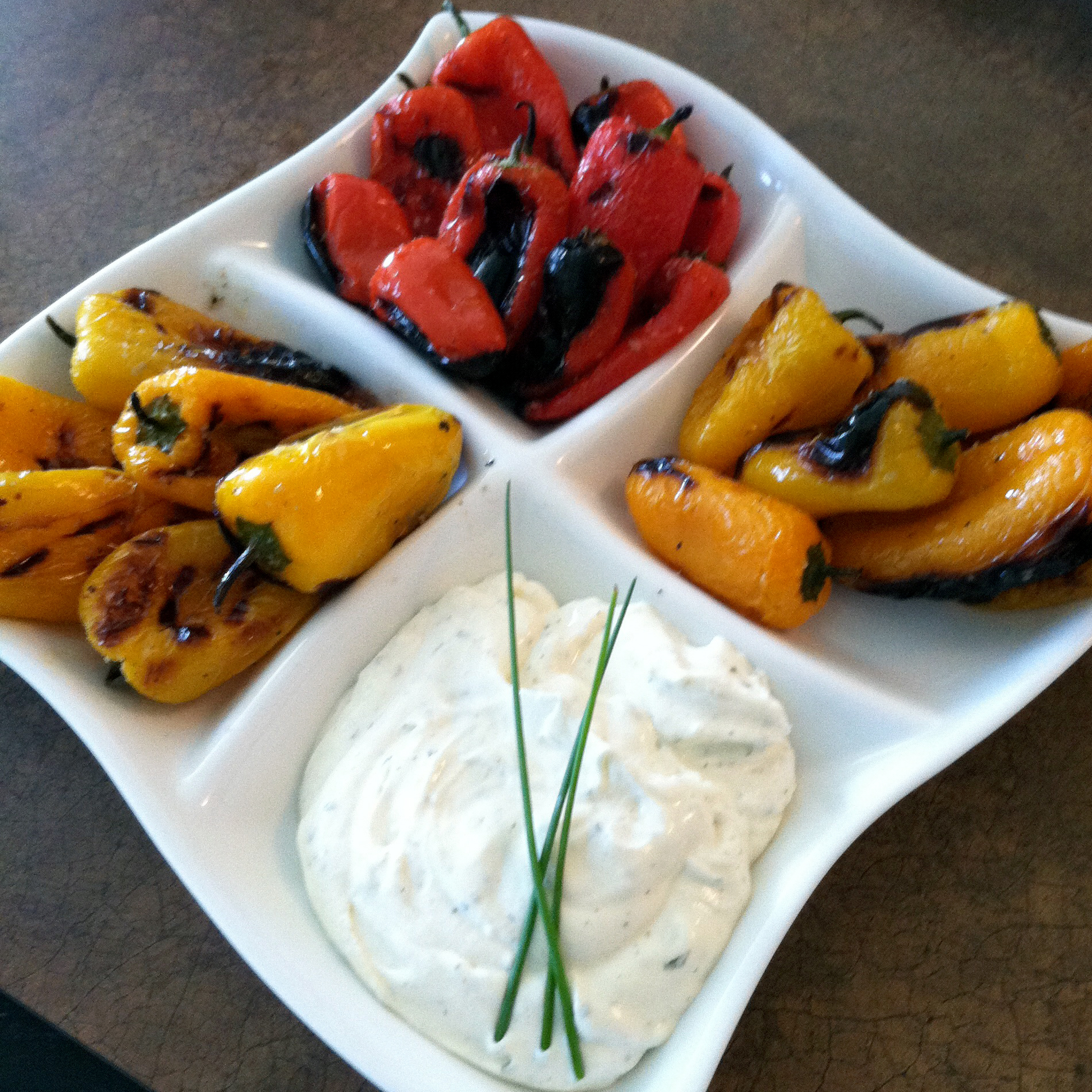 Grilled Sweet Peppers w/Zesty Ranch