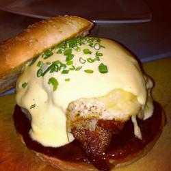 Moxie Bacon Burger w/Fried Egg