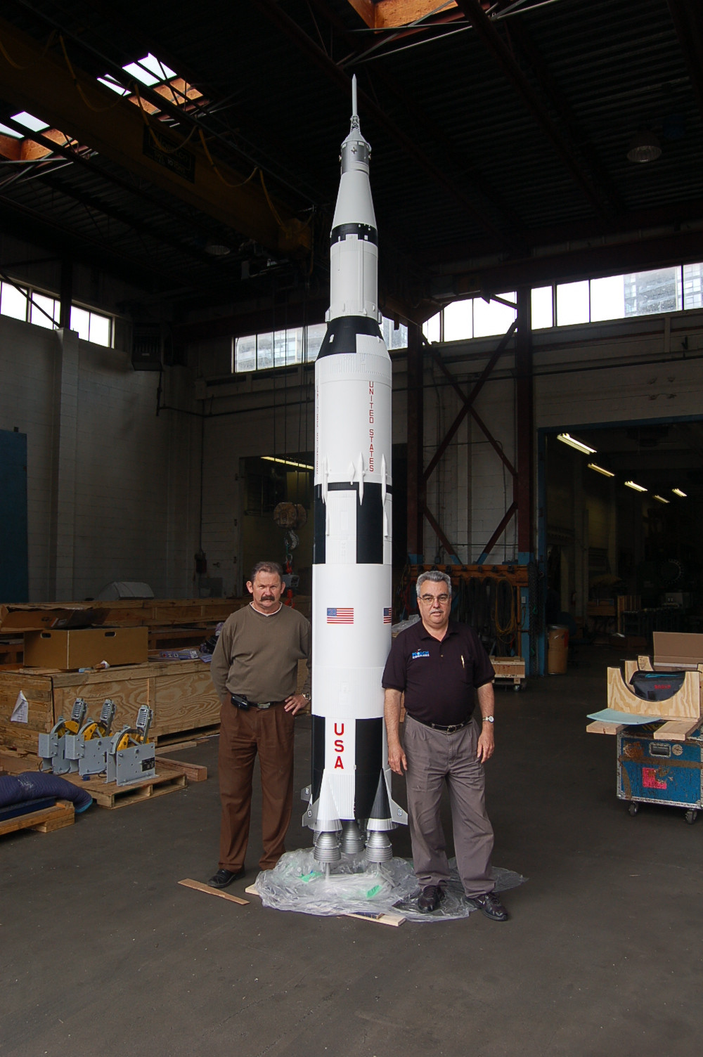 Saturn V space model rocket