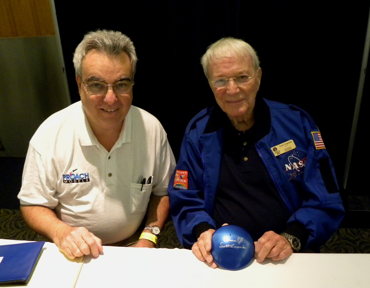 Nick with astronaut Scott Carpenter