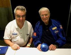 Nick with astronaut Scott Carpenter