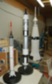 Space rockets, Gemini, Titan, Saturn IV