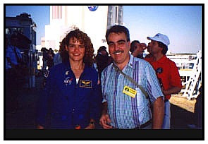 Julie Payette and Nick Proach