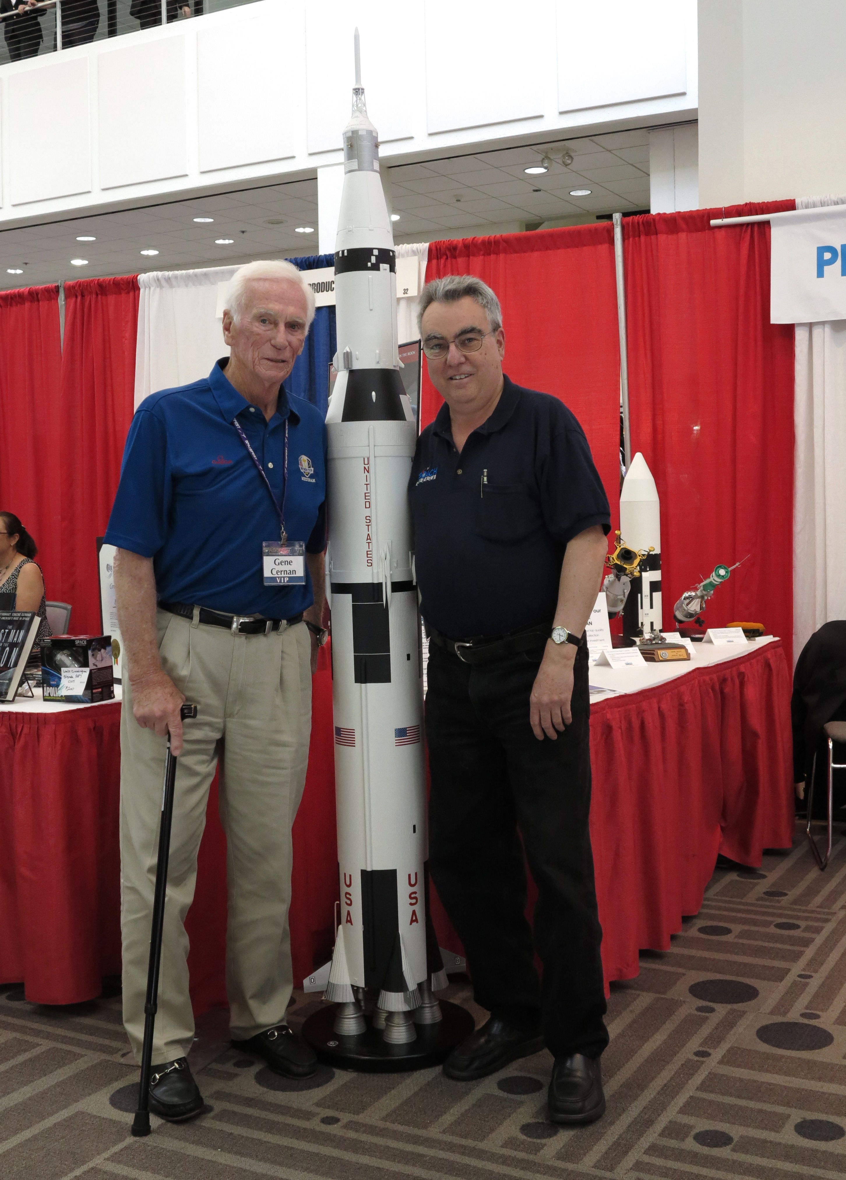 Nick Proach with Gene Cernan