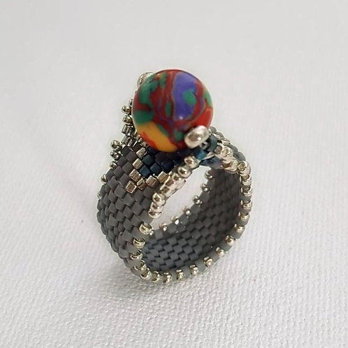 BEADED RING  size 6.5