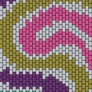 """PEYOTE BRACELET KIT 1.5"""" x 7.0"""" 30 columns x 227 rows 7 colours"""