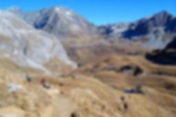 Au centre gauche : le Dôme des Platière,3473M - Massif de la Vanoise