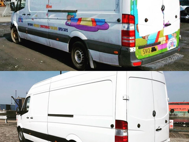 Before & after  We can repair and repaint any models of vans