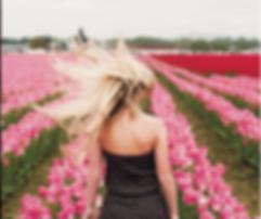 Toryce, Toryce Westgard, Tulips, Blonde, Pink Flowers