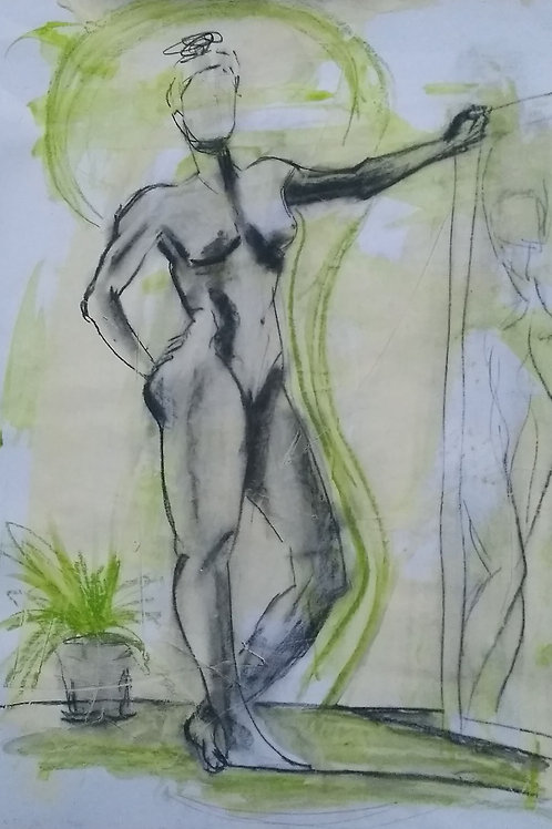 """Lockdown Sketch """"Statuesque"""""""