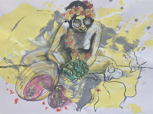 "Sketch  ""Flower Gatherer"""
