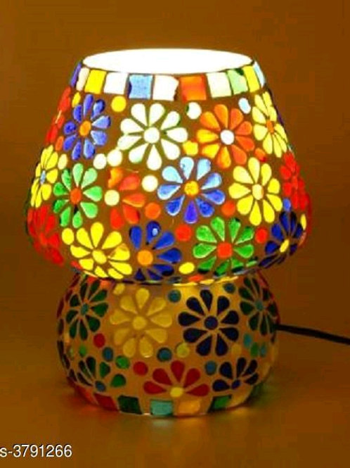 Multicolor  Colorful Beads & Chips Glass Table Lamp