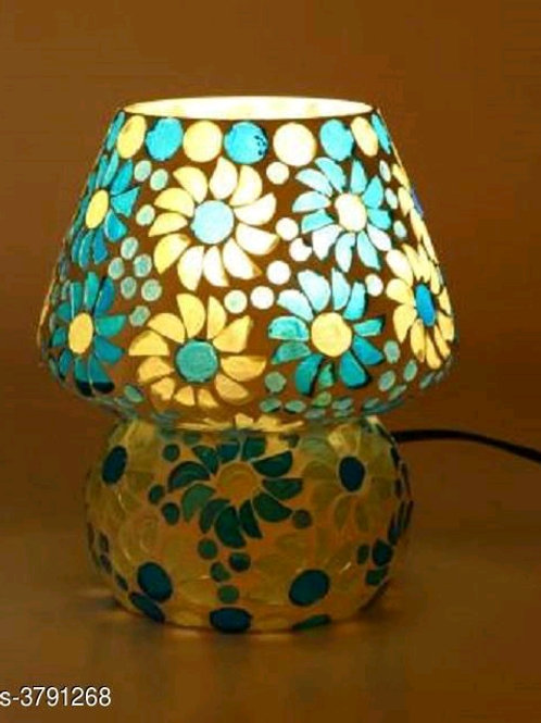 Colorful Beads & Chips Glass Table Lamp